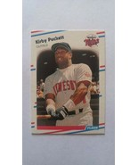 Kirby Puckett 1988 Fleer Card #19 Minnesota Twins Free Shipping - $1.29