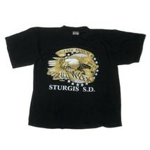Men's Vintage Large Sturgis Bike Week Graphic T Shirt 2001 Harley 61st Annual - $24.70