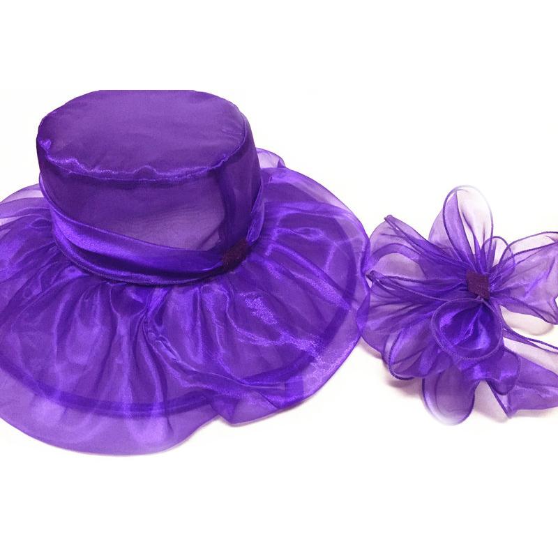 5151c3265f2b5 Elegant Fashion Women s Church Hats For Women Flower Hat Summer Gorras Sun