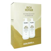 Goldwell USA Dualsenses Rich Repair Shampoo, Conditioner Liter Duo
