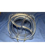 Imperial Glass Candlewick Clear Round Beaded 4 Sectioned Serving Dish 9 ... - $6.29