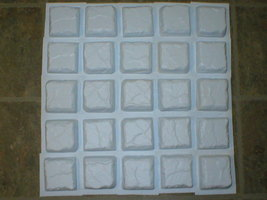 "10 Travertine 36 Pc. Mosaic Tile Molds Make 100s 13""x13"" Floor Paver, Wall Tiles image 2"