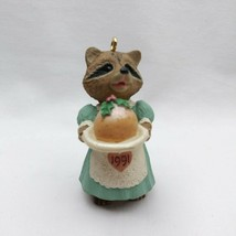 Vintage Hallmark Keepsake Plum Delightful Raccoon Ornament 1991 Tender ... - $9.74