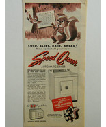 1956 Speed Queen Automatic Dryer Holiday Chipmunk Cold Sleet Rain Ahead ... - $14.95