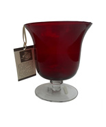 Chocolate Berries by Demdaco, Ruby Hurricane Glass, New in Box - $21.95
