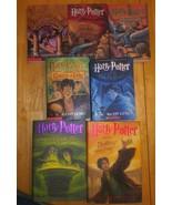 Harry Potter Complete Book Set 1-7  (2 HARDCOVER + 5 PB) 7 Book Lot VG C... - $54.44