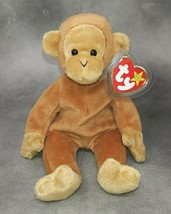 Ty Beanie Baby BONGO Monkey 1995 MINT-MINT TAGS & Protector 1 Owner Smok... - $8.50