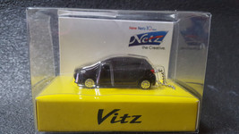 TOYOTA Vitz  Yaris LED Light Keychain Black Pull Back Mini Car - $22.15