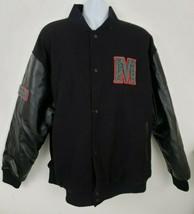 Modelo Beer Black Wool-blend Leather Varsity Jacket Sz XXL Rare Million ... - $197.99