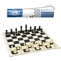 WE Games Roll-up Travel Chess Set in Carry Tube with Shoulder Strap - A ... - $21.50