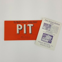 PIT Trading Card Game Replacement Instruction Booklet Manual 1959 Parker... - $4.99