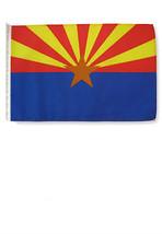 "Arizona State Car Flag 12 x 18"" Window Roll Up Banner + pole - $7.69"