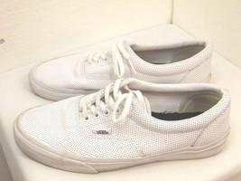 MENS CASUAL SHOES VANS BRAND SIZE9 1/2  WHITE WELL MADE         H 2 - $23.98