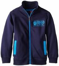 Boy's 8-20 IZOD Zip Front Jacket Long Sleeve Pockets Licensed NEW Navy Peacoat
