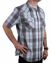Levi's Men's Cotton Casual Button Up Short Sleeve Shirt Plaid Gray 3LYLW6082 image 4