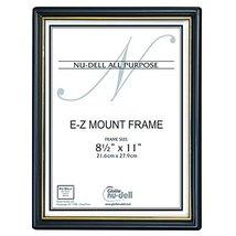 "NuDell 8.5"" x 11"" EZ Mount Economy Document Frame Plastic Face, Black wi... - $7.23"