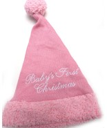 SANTAS BEST Baby's First Christmas HAT CAP BEANIE Pink New - $15.99