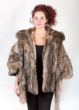 Canadian Lynx Fur Cape Hood Belt image 7