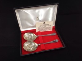 Vintage Sheffield England EPNS Spoons 24K GoldPlated  Bowls Silverplated Handles - $56.09