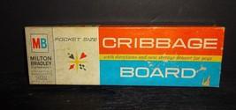 Vintage Milton Bradley Cribbage Board Pocket Size # 4535 w/ Box - $21.11
