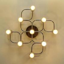 Brass Spectacular Sculptural Ceiling or Wall Flush Mount Sconce Light ch... - £430.96 GBP