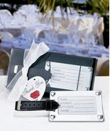Chrome Luggage Tag Favor (Set of 14) - Wedding Party Favors - $88.15