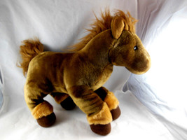 "RUSS BERRIE Brown Pony HORSE Plush Stuffed Animal Very SOFT 16"" Vintage - $15.25"