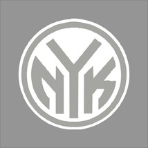 New York Knicks #6 NBA Team Logo 1Color Vinyl Decal Sticker Car Window Wall - $5.64+