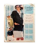 Misses Cardigan Jacket Sewing Step By Step Vintage Pattern 1992 Size 14-... - $4.99