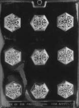 Small Winter Snowflake Mold Candy Tiny Snow Flake Soap Molds Plastic Chocolate - $3.75