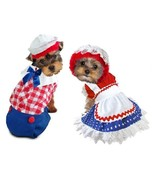 Ragdoll Costumes For Dogs Petticoat Polka Dot Dress Or Plaid Boy Jumpsuit - $33.55+