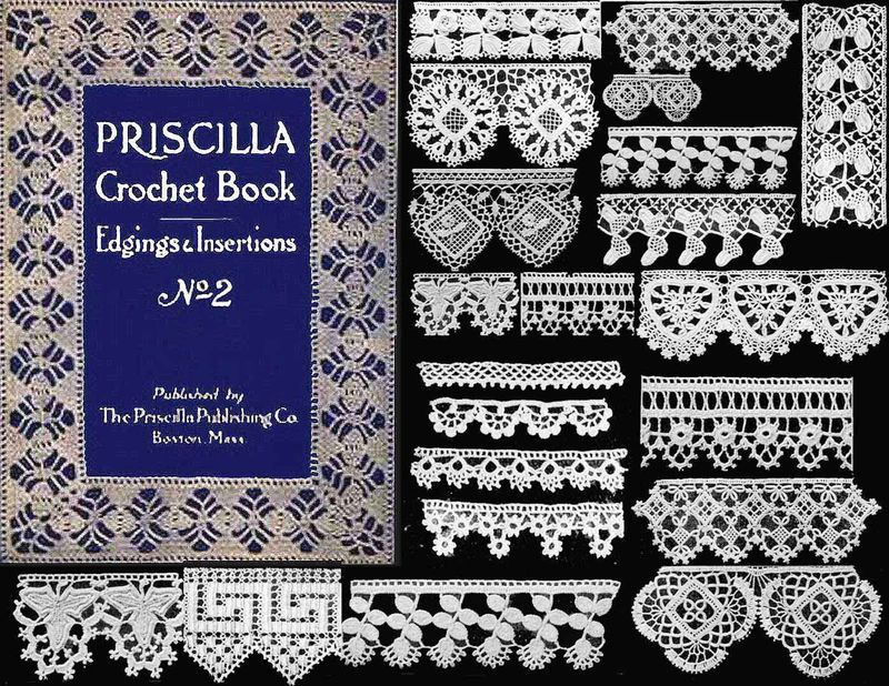 1914 Art Neuveau PRISCILLA Crochet Book Flapper Lace Patterns DIY TitanicReenact