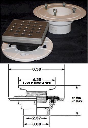Square drain fitting pvc