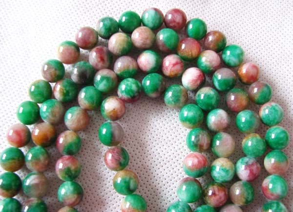 Tibetan 108 Colorful Jade Prayer Beads Mala