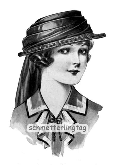 1916 Millinery Book Flapper Roaring 20s Hat Making Make Hats DIY Mourning Veils