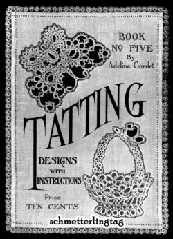 1916 Titanic Tatting Book DIY Lace Designs WWI Patterns Roaring 20s 1920s Motifs