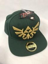 Nintendo Bioworld Green Zelda Snap Back Hat, New - $14.24