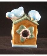 Ceramic Birdhouse and Birds Nodder Salt Pepper Shakers - $15.99