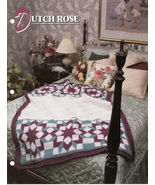 Dutch Rose Afghan Crochet Pattern Annies Attic Crochet & Quilt Club - $8.50