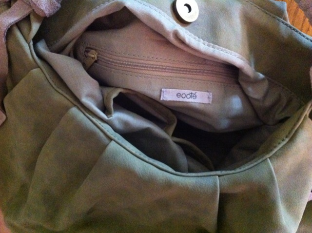 ECOTE Urban Outfitters olive suede BAG toggle NEW RARE