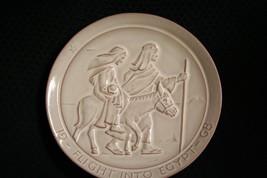 Vtg 1968 Frankoma Pottery Flight Into Egypt Christmas Plate By John~Mint - $14.01