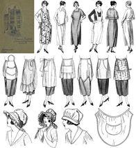 1923 Aprons Book Flapper Roaring 20s Dust Caps DIY Reenactment Make Styl... - $9.99