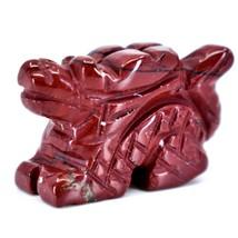 Rainbow Jasper Gemstone Tiny Miniature Dragon Figurine Hand Carved in China image 2
