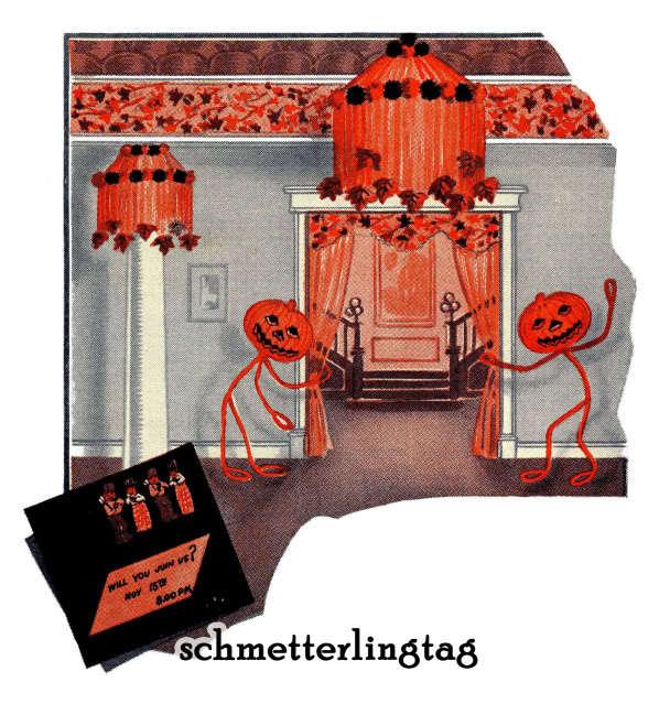 1925 Dennison Bogie Book (Halloween Thanksgiving) Flapper Roaring 20s DIY Paper