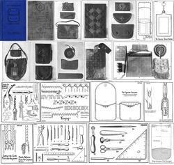 1925 Flapper Era Leather Work Book Purses Bags Handbag Bag Patterns