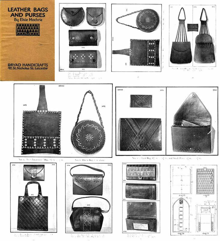 1928 Flapper 20s Leather Work Book Purses Bags Handbags Patterns Purse Bag DIY