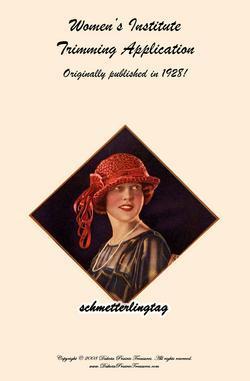 1928 Millinery Book Make Roaring 20s Flapper Hat Trims Flapper DIY Milliner Hats