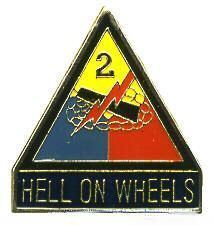 12 Pins - 2ND ARMORED DIVISION HELL ON WHEELS , pin 673 Bonanza