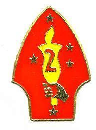 12 Pins - 2ND MARINE DIVISION , second usmc 2 pin 659 Bonanza