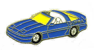 12 Pins - BLUE SUPRA , car hat tac lapel pin #119